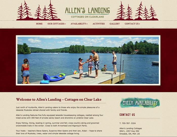 Allen's Landing website